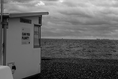 Can You Float (russellcollisonphotography) Tags: originalphotography originalphotographer originalphoto photography streetphotography blackwhite blackandwhite bnw seascape sea seafront seaside beach coast clouds quote southsea portsmouth hampshire