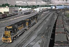 Geneva Steel and Railroading (jamesbelmont) Tags: riogrande drgw genevasteel coilsteel ironore ironmountain provo utah universityavenue train railroad railway locomotive emd sd45 sd40t2 orejennies ore