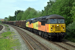 56090/56049 - Wrexham General (Mark_Edwards_47769) Tags: class56 56049 56090 colas colasrail wrexhamgeneral 6j37