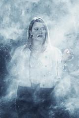 Winter is Coming (aldenfrautschy) Tags: neenah wisconsin unitedstatesofamerica cute blonde cold ice powers super power canon portrait outside denim bustier pretty attractive