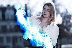 (aldenfrautschy) Tags: neenah wisconsin unitedstatesofamerica cute blonde cold ice powers super power canon portrait outside denim bustier pretty attractive