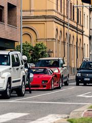 Stuck in Traffic (Mattia Manzini Photography) Tags: ferrari f40 supercar supercars cars car carspotting nikon d750 v8 red spoiler classic automotive auto automobili automobile italy italia bologna millemiglia