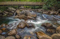 The stream crossing. (Bernie Kasper (5 million views)) Tags: art architecture berniekasper blue bridge color creek cascade colour d750 digital evening family green gsmnp greatsmokymountainnationalpark greatsmokymountains hiking light landscape love longexposure nature nikon naturephotography new outdoors outdoor old outside photography plant park photo photos plants raw river spring summer travel trail tree unitedstates usa water waterfalls waterfall