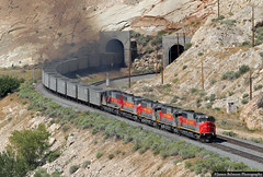 Mine Run at Thistle Tunnels (jamesbelmont) Tags: utahrailway mk503 sd50s thistletunnel coal railroad railway train locomotive utah drgw riogrande