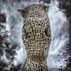 (michaeljoakes) Tags: kelpies iphone falkirk horse sky clouds horsehead grangemouth scotland stainlesssteel art sculpture