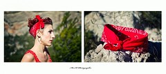 Bandana Girl (arrif-mehdi) Tags: red mountain girl montagne rouge amazing robe femme bandana fille modele up pin 50 pinup année pinn shoot shooting pause portrait visage pictures photo nice photographie meh beautiful awesome france french provence sud dream picture
