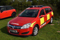 Tyne & Wear - KS57PWL - Driver Training (matthewleggott) Tags: scampston hall 2019 fire engine appliances water appliance tyne wear ks57pwl driver training car vauxhall astra