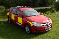 Tyne & Wear - KS57PWL - Driver Training (matthewleggott) Tags: scampston hall 2019 fire engine appliances water appliance ks57pwl tyne wear car vauxhall astra driver training