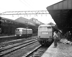 Crewe, Type A electrics (Garter Blue) Tags: electric typea class81 loco crewe 1960s film monochrome blackandwhite bw
