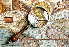 (lorielorie) Tags: map old world travel glass concept journey globe search enlarging destination historical document globetrotter view tool plan guide discovery printout explore magnifying closeup tourist sightseeing magnification cartography lens find enlarge paper eyesight exploration country tourism magnify assistance trip geography vintage background land magnifier russianfederation
