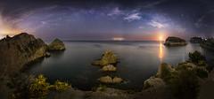 Orto Lunar. (:) vicky) Tags: ibiza valencia cala barraca javea nubes cielo estrellas vía lactea comunidadvalenciana spain night nocturna noche nocturnas nature agua water