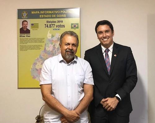 Recebi o juiz Alexandre Valle Piovesan, que será empossado no mês que vem presidente da Associação dos Magistrados do Trabalho