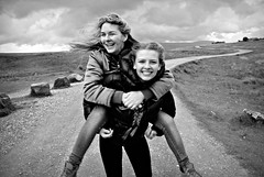 She Ain't Heavy She's My Mother. (plot19) Tags: mood mother family love light liv nikon north northwest northern now yorkshire daughter dales day plot19 photography portrait people england english britain british blackwhite black happy