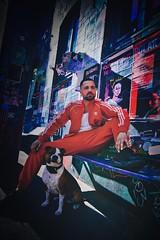 Best Buddy (maurice.1979) Tags: bestbuddy coolertyp mann men streetart foto rot adidas hund cool street fischmarkt hamburg