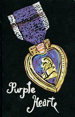 Purple Heart (Life Imitates Doodles) Tags: blackpaper purpleheart metallicpen