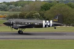 DAKOTA 330647 VIRGINIA ANN (TF102A) Tags: prestwick prestwickairport aviation aircraft airplane douglas dakota 330647 c47 dc3 usaf usairforce