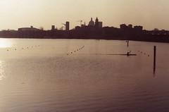 Mantova (Fabio Corò - PARMA) Tags: mantova leica r4 fotografia analogica kodak portra 160 iso 35mm canottaggio sunset
