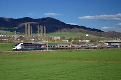 TGV 9213 @ Itingen (Wesley van Drongelen) Tags: sbb cff ffs sncf société societe nationale chemins de fer tgv grande vitesse pos lyria 4405 disneyland paris pelliculage publicitaire werbetgv werbung reclame 9213 tgv9213 itingen trein train zug