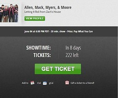 Only 8 more days! Get your ticket, reserve your spot, you don't want to miss out! Allen, Mack, Myers, and Moore performing on #Stageit Letting It Roll from Zach's House . . Link for tickets: https://www.stageit.com/allen_mack_myers_moore/letting_it_roll_f (AllenMackMyersMooreNation) Tags: allen mack myers moore ammm
