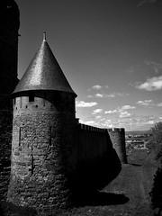 Carcassonne Black White (amos.locati) Tags: amos locati carcassonne black white france francia franta castle catari torre tower tour tetto roof7muro mura wool