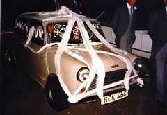 Our Wedding Oct 1986 IMGP0015 (Stevecollection2008) Tags: austinminicooper998mk2 oct1986 35mmfilm pentaxmesuper pentax a200 flash rugeley cooper mini snowberrywhite sandybeige 998 dunlopreverserims 997cam maniflowfrelowmanifold