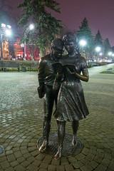 Shurik and Lidochka (atsubor) Tags: krasnodar russia краснодар россия night sculpture