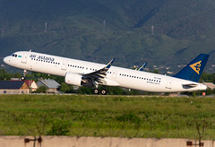 P4-KDD Air Astana A321neo (twomphotos) Tags: plane spotting ala uaaa departure evening rwy05r mountian air astana airbus a321neo