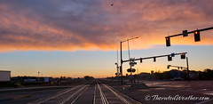 May 27, 2019 - A cool railway sunrise. (ThorntonWeather.com)