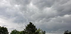 May 26, 2019 - Storm clouds above. (ThorntonWeather.como)