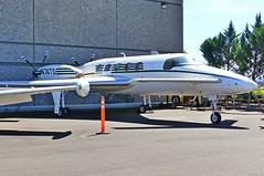 N74TD Starship at McMinnville (ZD703) Tags: n74td beechcraft starship beechstarship2000 evergreenaviationandspacemuseum evergreenoregon mcminnville n8225y n74tf