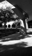 IBM Offices, Laboratories, and Manufacturing Facility, Boca  Raton, Florida (Burnt Umber) Tags: fujica film ax3 35mm scala tamronspadaptall23580mm marcelbreuer thomasgatje architecture boca raton florida brutalist brutalism mimo precast concrete panels office ibm laboratories brick standpipe valve silverefexpro rpilla001 noir schwarz weis weiss flurbex black white blanco negra kdigitalisthedevil ©allrightsreserved