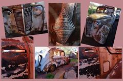 Renault (evisdotter) Tags: renault car bil junkyard skrot skrotbil rost rust collage macro light allpicssooc