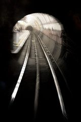 Tunnel Vision (Alexander Jones - Documentary Photography) Tags: documentary photography london underground transport museum 1938 rolling tube stock railway train trains nikon d5200 central piccadilly