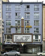 City ATELIER (Monsieur Adrien) Tags: laden ladenschild leuchtreklame schaufenster storefront storesign typo typografie typography retrosign shopwindow münchen kino cinema movietheater neonsign