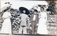 Panama Encounter (Andy961) Tags: panama gorgona panamacanal canaldepanama canalzone people costume magua jacket parasol