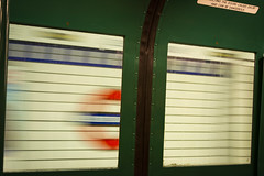 Kings Cross St. Pancras, in a Blur (Alexander Jones - Documentary Photography) Tags: documentary photography london underground transport museum 1938 rolling tube stock railway train trains nikon d5200 central piccadilly line