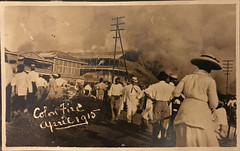 Colon Fire of 1915 (Andy961) Tags: panama colon cityscape fire disasters people sepia vintage