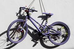 Hanging Purple Flower Bike (eskayfoto) Tags: canon eos 700d t5i rebel canon700d canoneos700d rebelt5i canonrebelt5i sk201902266353editlr sk201902266353 lightroom bike bicycle cycle hanging decoration plants flowers purple hang lanzarote playablanca elpueblo lascoloradas centrocomercialelpueblo shadow