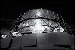 Mars Base... (Ody on the mount) Tags: abstrakt architektur canon g7xii gasometerpforzheim gebäude kunst licht lichtreflexe powershot rahmen abstract architecture art bw blackandwhite creative frame monochrome sw schwarzweis