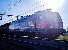 HSL Logistik 186 383 met keteltrein @ Ekeren (Antwerpen) (Avinash Chotkan) Tags: hsl logistik trains traxx br186 belgium cargo bombardier 186383
