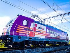 HSL Logistik 186 383 met keteltrein @ Ekeren (Antwerpen) (Avinash Chotkan) Tags: hsl logistik trains traxx br186 belgium bombardier cargo