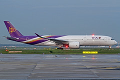 "Thai Airways International Airbus A350-941 HS-THK ""Phaisali"" - ""ไพศาลี"" FRA 27-05-19 (Axel J.) Tags: thaiairwaysinternational airbus a350 hsthk phaisali ไพศาลี fra frankfurt rheinmain eddf fraport luftfahrt fluggesellschaft flughafen flugplatz aircraft aeroplane aviation airline airport airfield 飞机 vliegtuig 飛機 飛行機 비행기 авиация самолет תְעוּפָה hàngkhông avion luchtvaart luchthaven avião aeropuerto aviación aviação aviones jet linienflugzeug vorfeld apron taxiway rollweg runway startbahn landebahn outdoor planespotter planespotting spotter spotting fracht freight cargo"