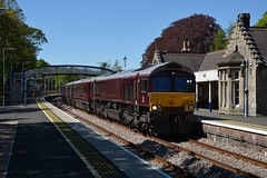 "Royal Scotsman Maroon Class 66/7, 66746 (37190 ""Dalzell"") Tags: gbrf gbrailfreight belmond royalscotsman maroonlivery hectorgroup gm generalmotors shed bluebird class66 class667 66746 66845 66410 pitlochry"