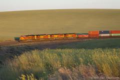 Scotchlite (Joel Hawthorn) Tags: bnsflakesidesub bnsfrailway easternwashington gees44dc glint