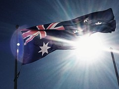 Australia (runslikethewind83) Tags: australia flag australian oz travel light flying country sydney bondi oceania aussie オーストラリア 旗 国 flare sunlight sun