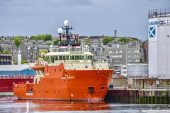 Grampian Conqueror - Aberdeen Harbour Scotland - 26th May 2019 (DanoAberdeen) Tags: danoaberdeen aberdeen aberdeenscotland aberdeenharbour aberdeenshire shipspotting candid amateur 2019 offshore offshoreships tugboats quay winter wasser ecosse escotia riverdee transport oilships oilrigs psv pocraquay port abz abdn aberdeencity summer spring seafarers seaport docks footdee fittie grampian harbour haulage lifeatsea szkocja clouds cargoships vessels bluesky boats nikond750 northsea northeast maritime merchantships merchantnavy shipspotters boat workboats grampianconqueror errv support rescue vessel emergency scotch