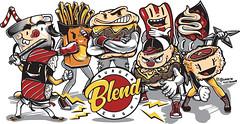 BLEND Sushi & Burger (Lovatto Ilustrador) Tags: blend sushi burger lovatto lovattoilustrador illustration ilustração illo drawing desenho sticker adesivo arte art design paragominas pará brasil brazil