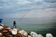 Il pescatore (michele.palombi) Tags: pescatore versilia camaiore tuscany 35mm analogic negativo colore kodak ektar100 colortec c41