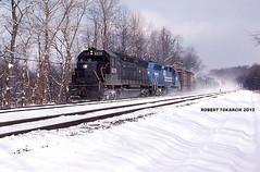 Let It Snow! (NSHorseheadSD70) Tags: robert tokarcik trains railroads railways locomotives emd sd45 millwood pennsylvania conrail