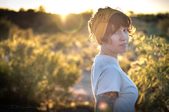 Kat Sunset I (Skyrocket Photography) Tags: tattooed model inked sexy dan santamaria skyrocket photography arizona desert sunset jeep ink tattoos istari